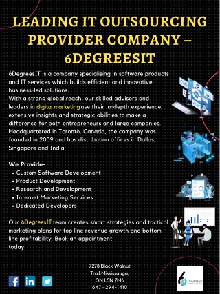Leading IT Outsourcing Provider Company – 6DegreesIT
