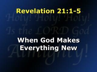 Revelation 21:1-5
