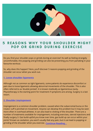 5 Reasons Why Your Shoulder Might Pop or Grind During Exercise