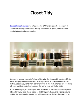 Closet Tidy