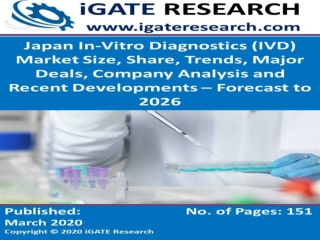 Japan In-Vitro Diagnostics (IVD) Market Size, Share, Trends, Major Deals, Company Analysis and Recent Developments – For