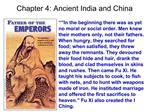 Chapter 4: Ancient India and China