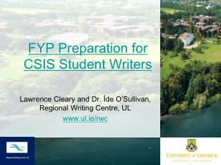 FYP Preparation for CSIS Student Writers
