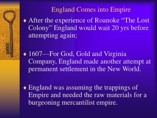 England Comes into Empire