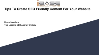 Tips To Create SEO Friendly Content For Your Website | SEO Company Sydney