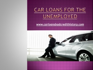 Car loans for the unemployed
