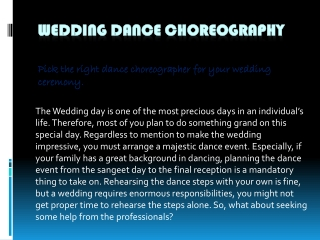 Wedding Dance Choreographer   Wedding Choreography in Vasant Kunj