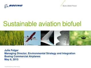 Change is in the air   Sustainable fuels for sustainable aviation