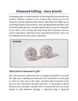 Diamond Gifting - Aura Jewels
