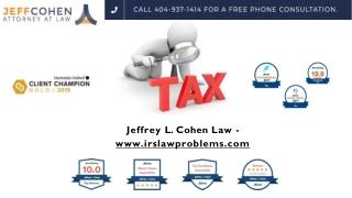 Jeffrey L. Cohen Law - www.irslawproblems.com