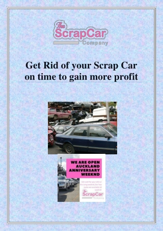Top-rated Scrap Car collection company!