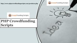 php Readymade Crowdfund Script