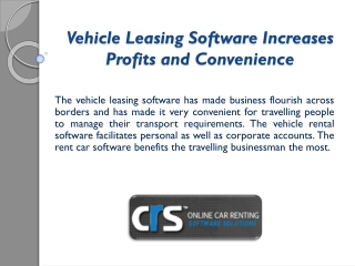 The Vehicle Rental Software Keeps Track of Business as Usual