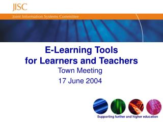 E-Learning Tools  for Learners and Teachers