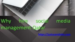Social media management Qatar