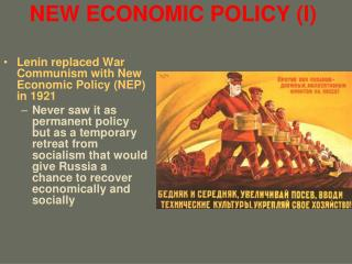 NEW ECONOMIC POLICY (I)