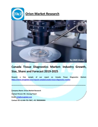 Canada Tissue Diagnostics Market: Global Size, Share, Industry Trends, Research and Forecast 2019-2025
