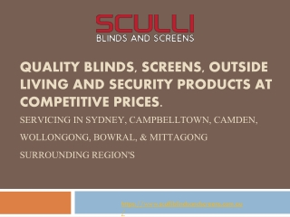 Quality Blinds, Screens, Outside Living