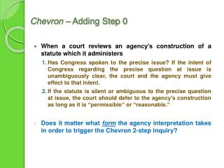 Chevron  – Adding Step 0