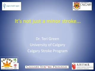 It's not just a minor stroke...