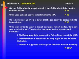 Cal and the IRA