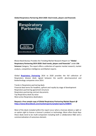Global Respiratory Partnering Insights, Deal trends, players and financials: 2020