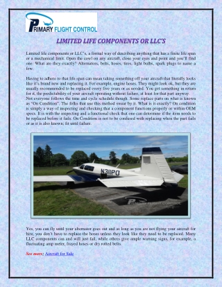 LIMITED LIFE COMPONENTS OR LLC'S