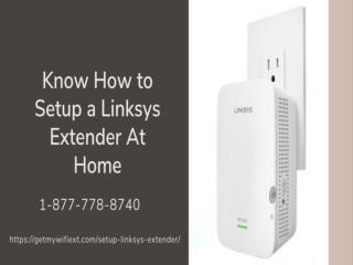 Linksys Extender Setup  1 8777788740 Setup a Linksys Extender   Mywifiext