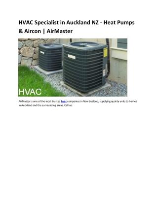 HVAC Specialist in Auckland NZ - Heat Pumps & Aircon | AirMaster