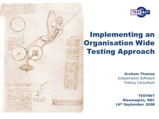 Implementing an Organisation Wide Testing Approach