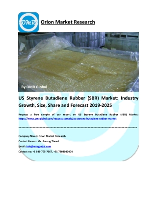 US Styrene Butadiene Rubber (SBR) Market: Size, Share, Growth, Industry Analysis, Opportunities and Forecast 2019-2025