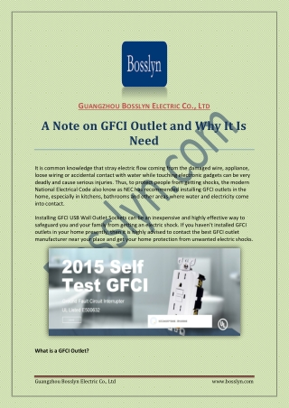 Bosslyn.com best place to gfci outlet manufacturer