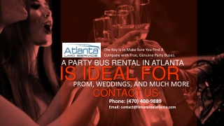 A Party Bus Atlanta is Ideal for Prom, Weddings, And Much More