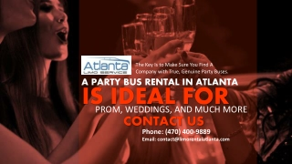 A Party Bus Rental in Atlanta is Ideal for Prom, Weddings, And Much More