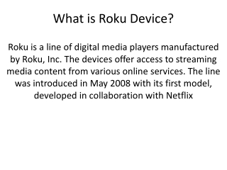 What is Roku Device and How Setup for TV