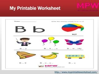 Missing vowel printable worksheets | My Printable Worksheet
