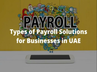 Types of Payroll Solutions for Businesses in UAE