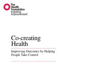 Co-creating Health