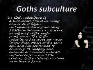 Goths subculture