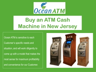 Buy an ATM Cash Machine in New Jersey   Purchase ATM Machine
