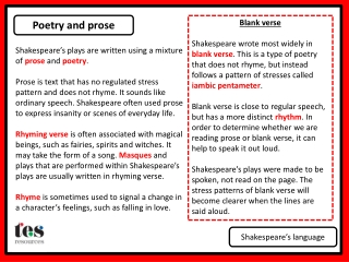 Shakespeare s Language Magic