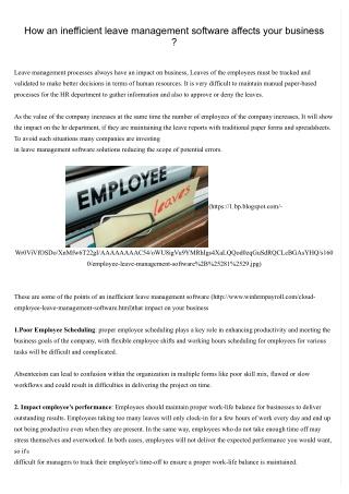 Online leave management System - leave management software -Employee Leave Management System