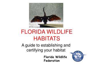 FLORIDA WILDLIFE HABITATS