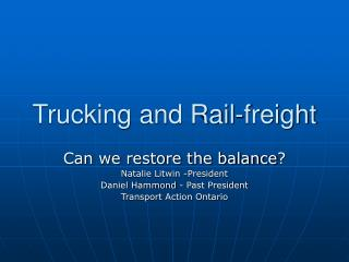 Trucking and Rail-freight