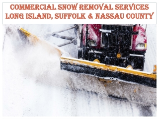 Commercial Snow Removal Services Long Island
