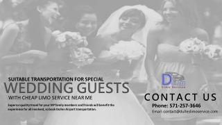 Suitable Transportation for Special Wedding Guests with Dulles Car Service