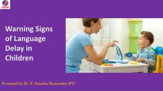 Signs of Language Delay in Children   Speech and Language Therapies in Bangalore