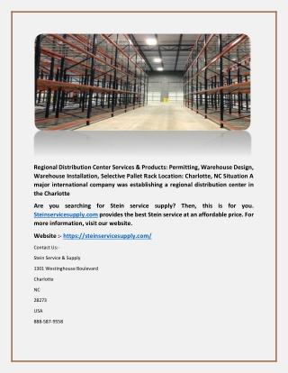 Regional Distribution Center-steinservicesupply.com