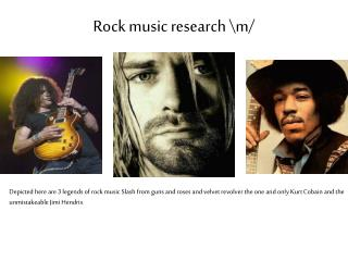 Rock music research \m/