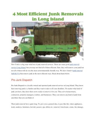 Junk removal service Long Island